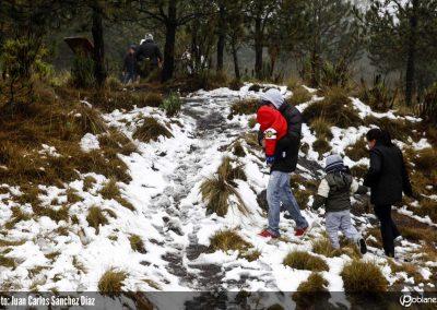 Nieve en el estado de Puebla